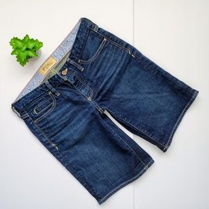 Holding Horses Dark Wash Denim Jean Boy Shorts 27